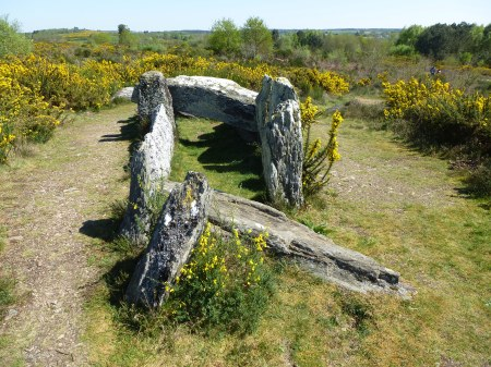 A burial chamber known as the Four Sarrazin on the moor of Saint Just