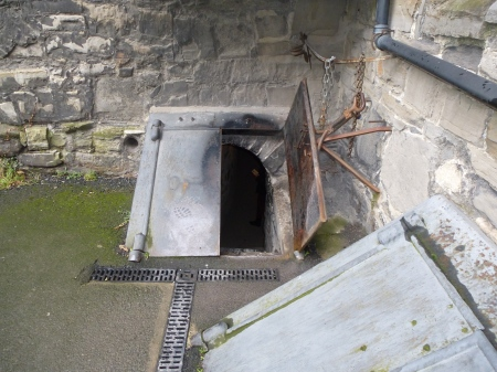 The door to the crypt of St Michan's