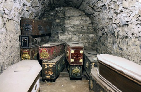 Coffins in the vault of St Michan's