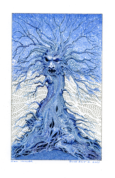 Blue Ent 2, Ian Miller Image copyright the artist