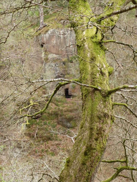 A dark doorway into Wallace's Cave, Roslin Glen