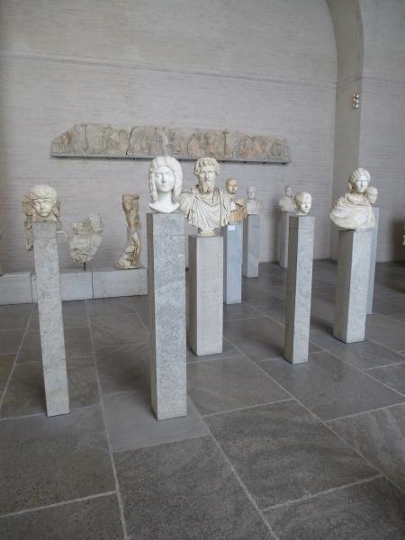 Roman portraits in Room XI of the Glyptothek, Munich