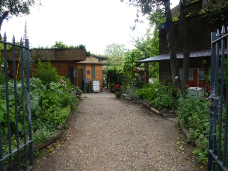 The entrance to Bee Urban, Kennington Park