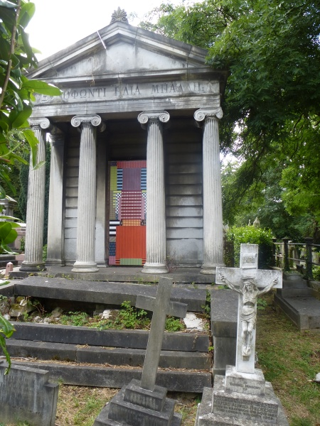 A work by Ian McCaughrean in the Greek Section of West Norwood Cemetery