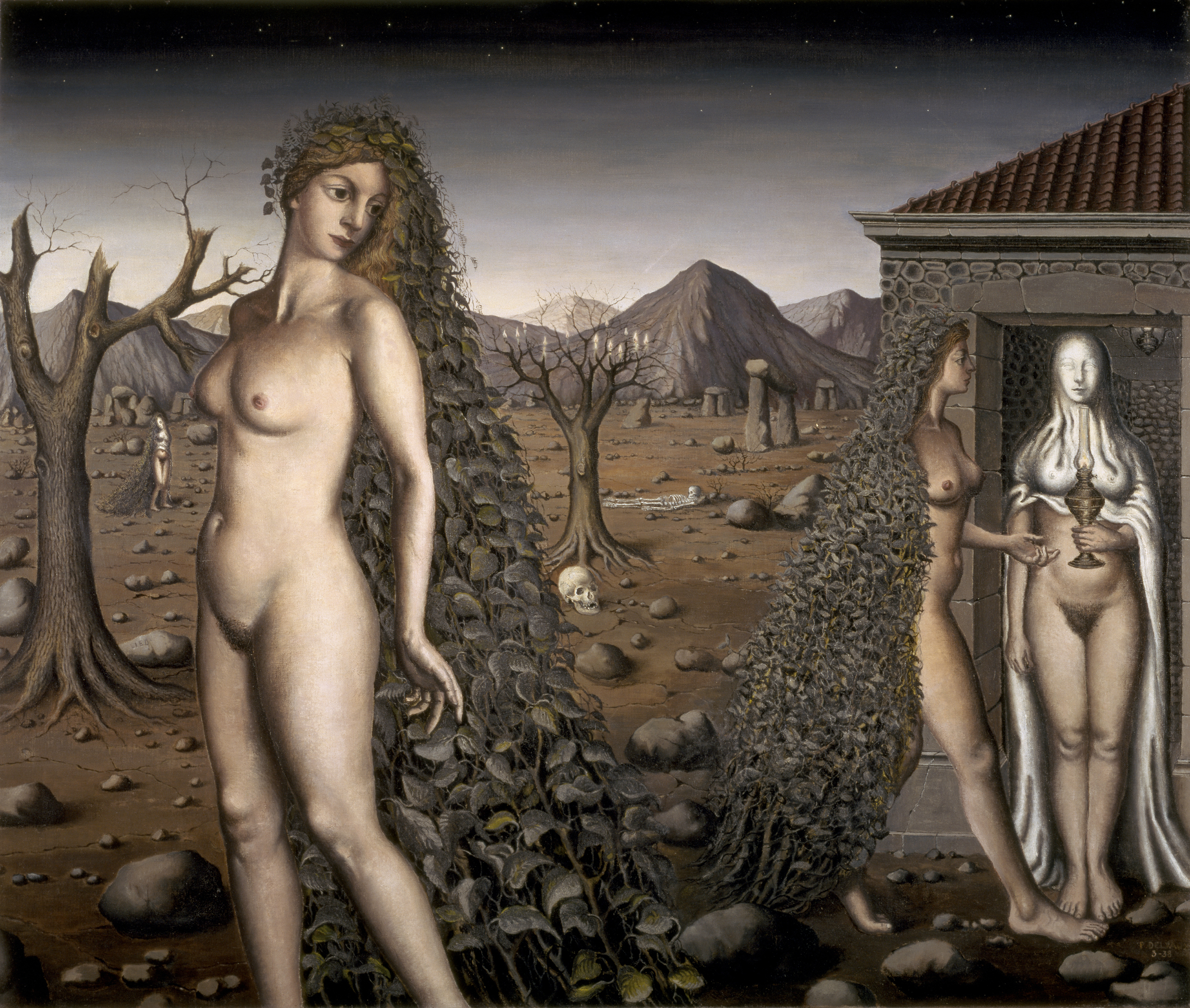 nude witches L'Appel de la Nuit, Paul Delvaux, ...