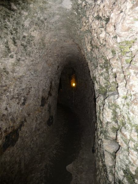 The rock-cut tunnel leading to the Shell Grotto, Margate