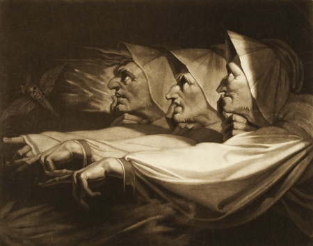 Three Weird Sisters from Macbeth, Henry Fuseli, 1783