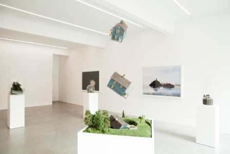 An installation view of Dream No Small Dream, Ronchini Gallery