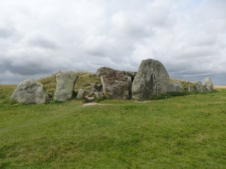Huge stones around the entrance to West Kennet Long Barrow, Wiltshire
