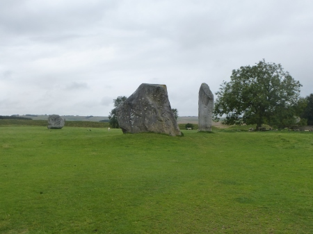 A rare moment of peace amongst the stones of Avebury, Wiltshire