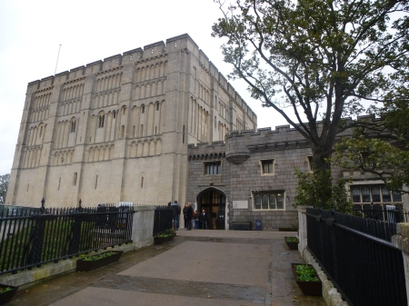 The impressive exterior of Norwich Castle