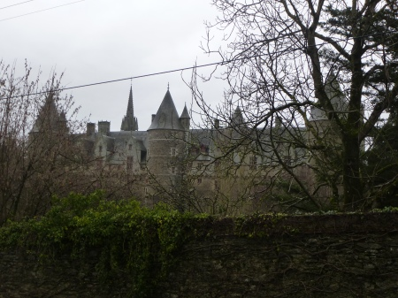 The approach to the castle at Josselin