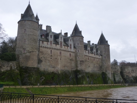 The fairytale towers of the castle of Josselin
