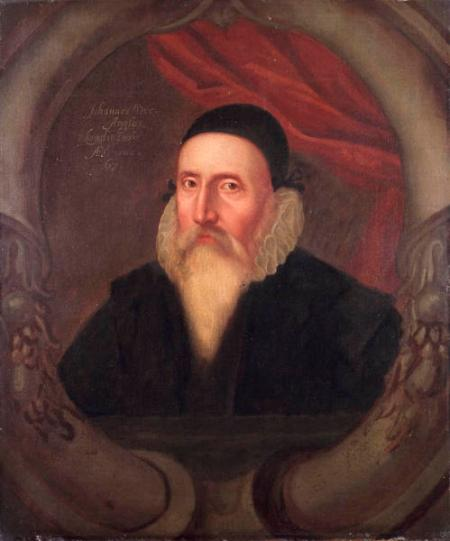 A portrait of John Dee, now in the Ashmolean Museum, Oxford