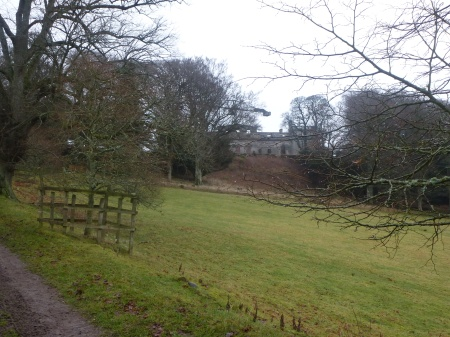 The stately ruins of Penicuik House