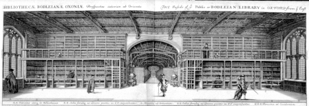 A 17th Century view of Duke Humfrey's Library, Oxford