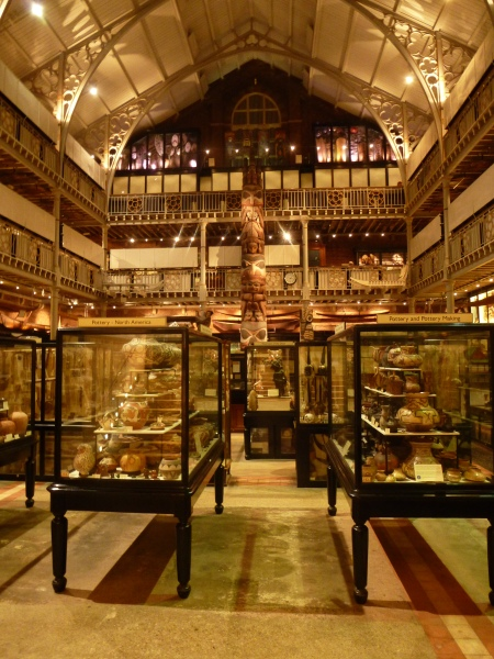 The packed interior of the Pitt Rivers Museum, Oxford