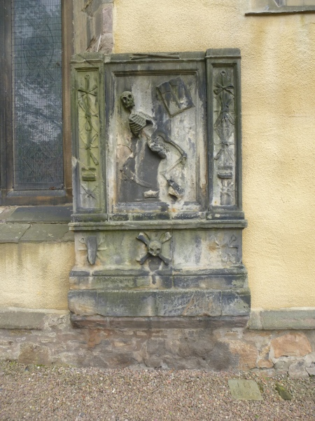 A Dancing Skeleton near the entrance to Greyfriars Kirkyard