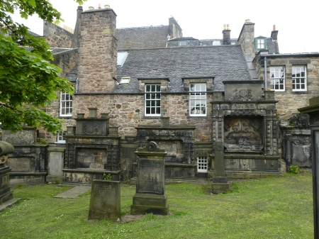 A packed corner of Greyfriars Kirkyard