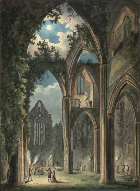 Tintern Abbey seen by Moonlight, 1802 by Peter van Lerberghe