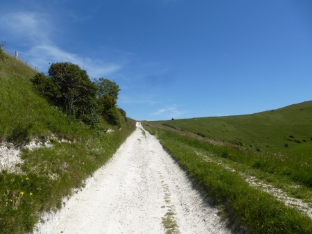 The chalk path up to Windover Hill, Sussex