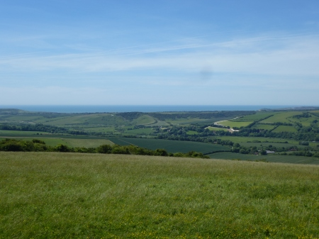 The stunning views from Windover Hill, Sussex