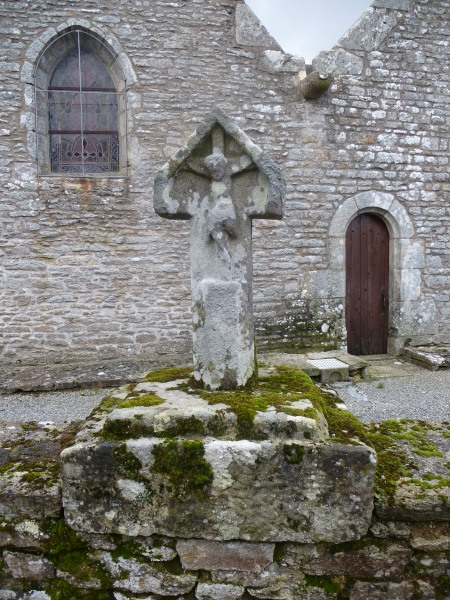 A medieval carving in the village of Trégranteur, Brittany