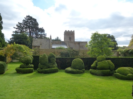 Can you decipher the strange topiary shapes in the garden of Chastleton House?