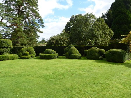 The weird and wonderful topiary shapes in the gardens of Chaslteton House