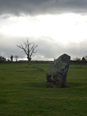 Dramatic skies over the standing stones of Stanton Drew