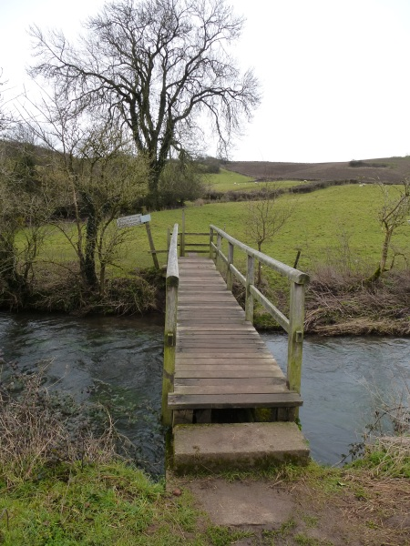 The bridge leading to Stoney Littleton Long Barrow, Somerset