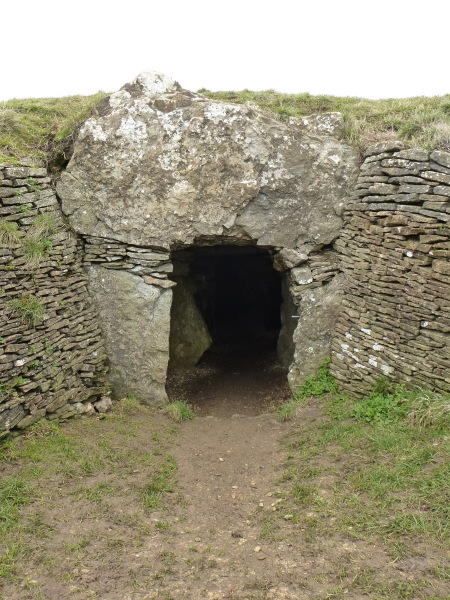 The doorway of Stoney Littleton Long Barrow, Somerset