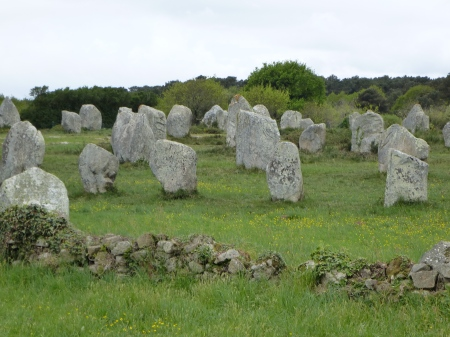 The impressive standing stones of Carnac, Brittany
