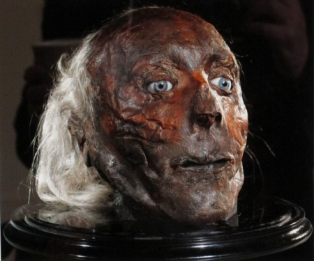 Jeremy Bentham's head, UCL