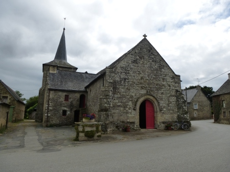 The medieval church of Saint-Gobrien, Brittany