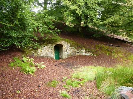The entrance to the Hurley Cave, Penicuik