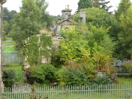 A fragile wing of ruined Mavisbank House, Loanhead